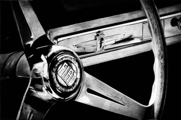Photograph - 1961 Fiat 1500 S Osca Cabriolet Steering Wheel by Jill Reger