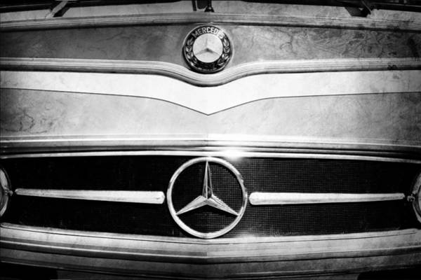 Photograph - 1961 Mercedes-benz Type O321h Bus Grille Emblem by Jill Reger