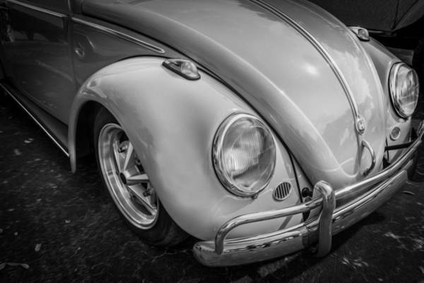 Photograph - 1962 Volkswagen Beetle Vw Bug Bw by Rich Franco