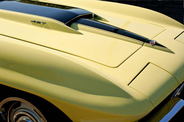 1967 Photograph - 1967 Chevrolet Corvette Hood by Jill Reger
