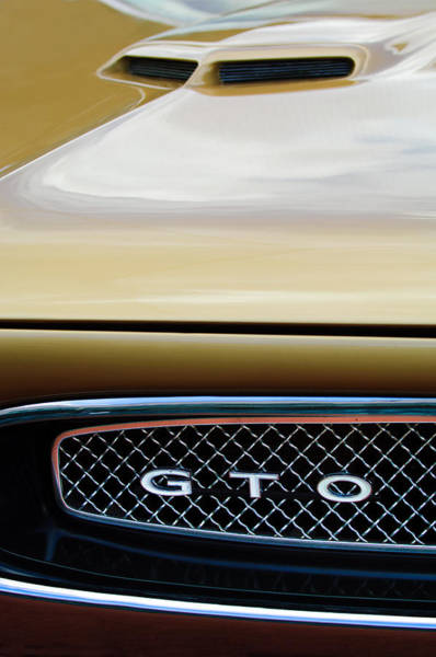 Photograph - 1967 Pontiac Gto Grille Emblem by Jill Reger