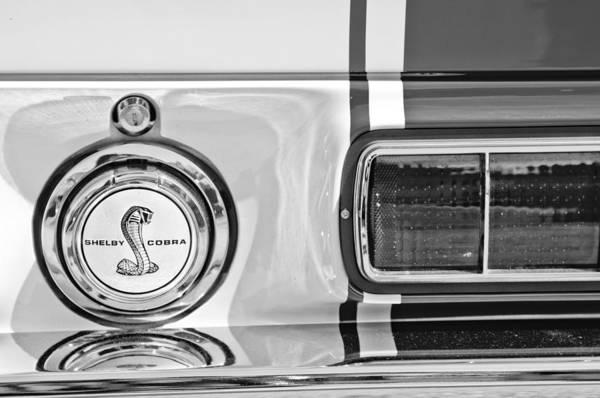 Photograph - 1968 Ford Mustang Fastback 427 Ci - Cobra Emblem by Jill Reger