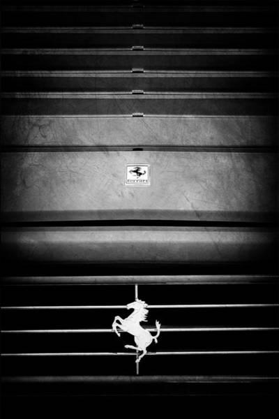 Photograph - 1989 Ferrari 329 Gts Grille Emblem by Jill Reger
