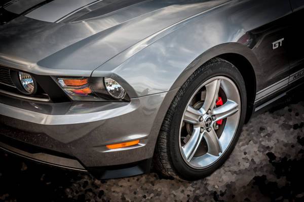 Photograph - 2010 Ford Mustang Convertible  by Rich Franco