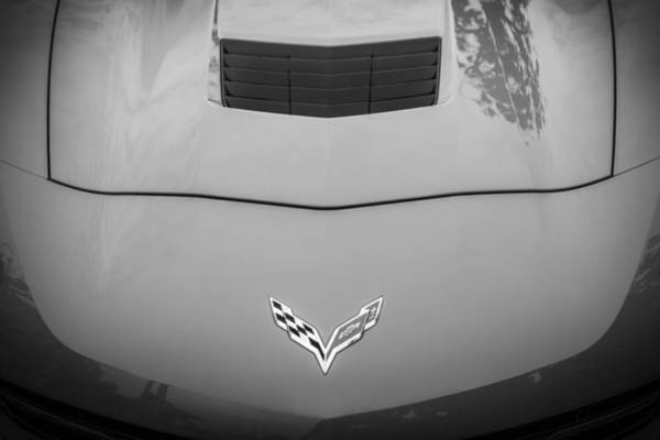 455 Photograph - 2014 Chevrolet Corvette C7 Bw   by Rich Franco