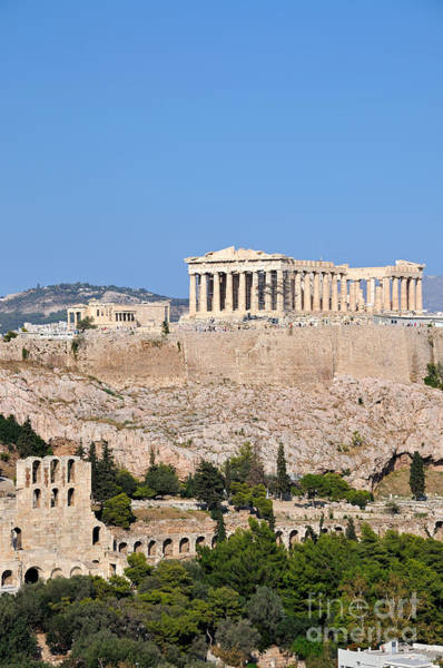 Erechtheion Photograph - Acropolis Of Athens by George Atsametakis