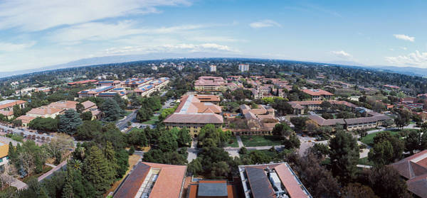 Fish Eye Lens Photograph - Aerial View Of Stanford University by Panoramic Images
