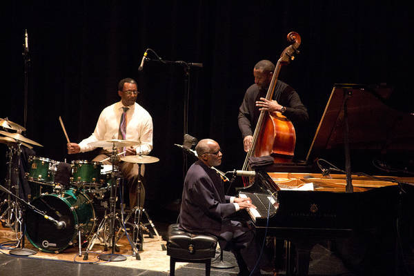 Photograph - 4 Ahmad Jamal Pdx Jazz Fest 21feb14 by Lee Santa
