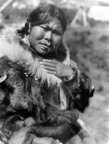 Lip Piercing Wall Art - Photograph - Alaska Eskimo Woman by Granger
