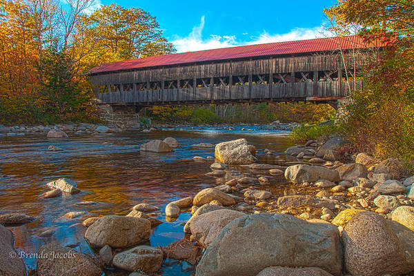 Photograph - Albany Covered Bridge New Hampshire by Brenda Jacobs