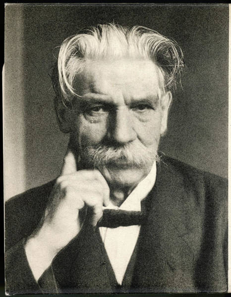 Wall Art - Photograph - Albert Schweitzer   French Theologian by Mary Evans Picture Library