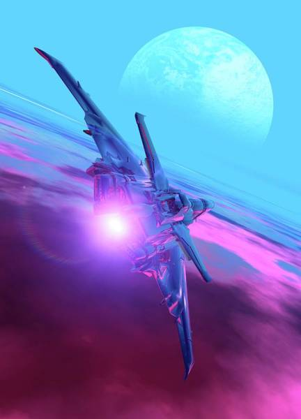 Temperature Digital Art - Alien Spaceship, Artwork by Victor Habbick Visions