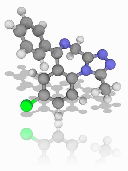 Wall Art - Photograph - Alprazolam Drug Molecule by Laguna Design/science Photo Library