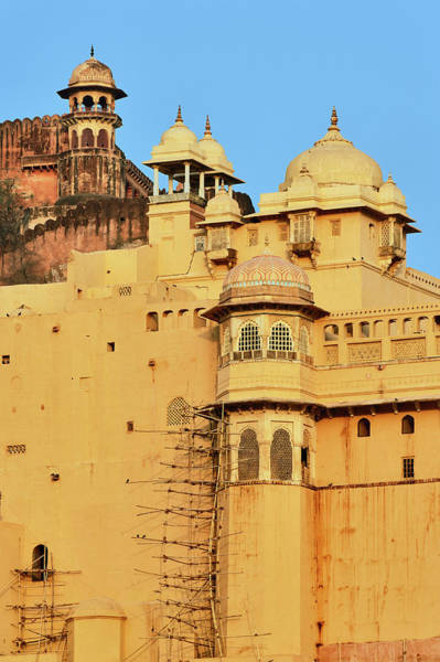 Edifice Photograph - Amber Fort, Jaipur, India by Adam Jones