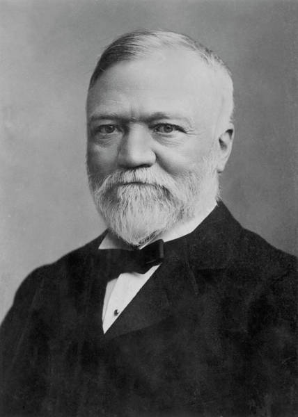 Capitalism Wall Art - Photograph - Andrew Carnegie (1835-1919) by Granger