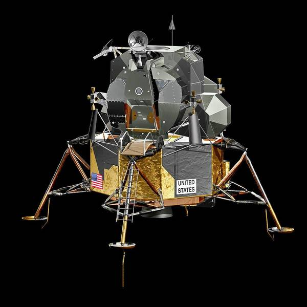 Landing Gear Photograph - Apollo Lunar Module by Carlos Clarivan/science Photo Library