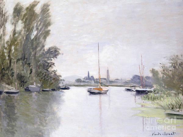 Monet Painting - Argenteuil by Claude Monet