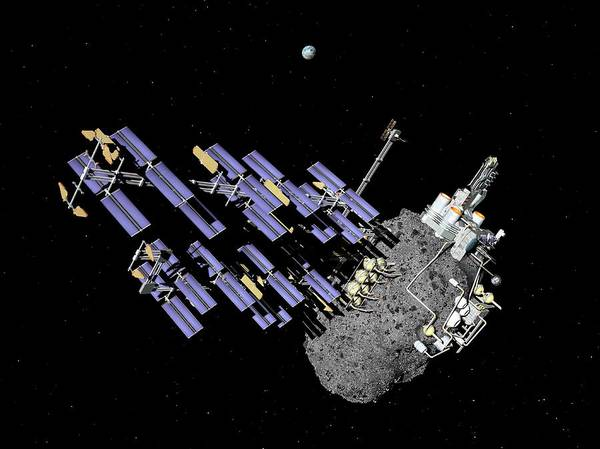 Colonization Wall Art - Photograph - Asteroid Mining Outpost by Walter Myers