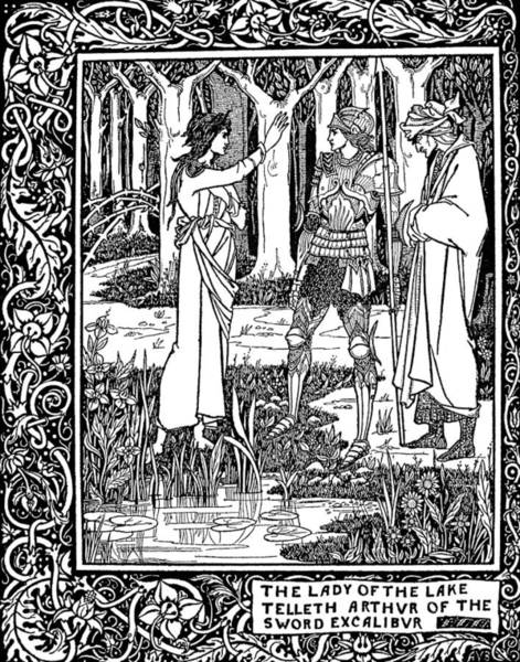 Drawing - Beardsley Morte D'arthur by Granger