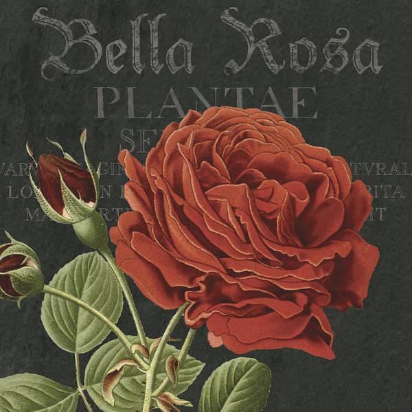 Bella Rosa Square Art Print