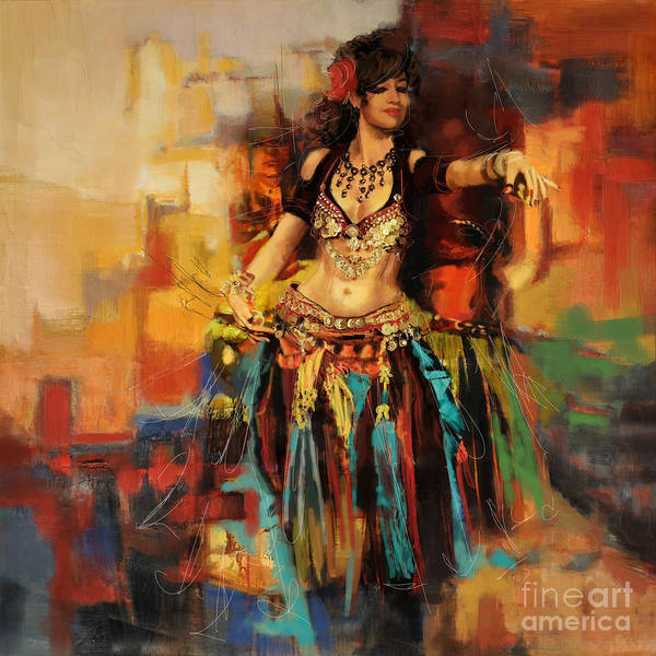 Corporate Art Task Force Wall Art - Painting - Belly Dancer 9 by Corporate Art Task Force