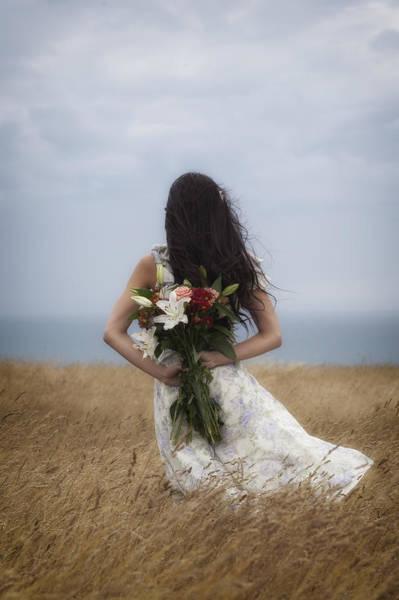 Beautiful Woman Photograph - Bouquet Of Flowers by Joana Kruse