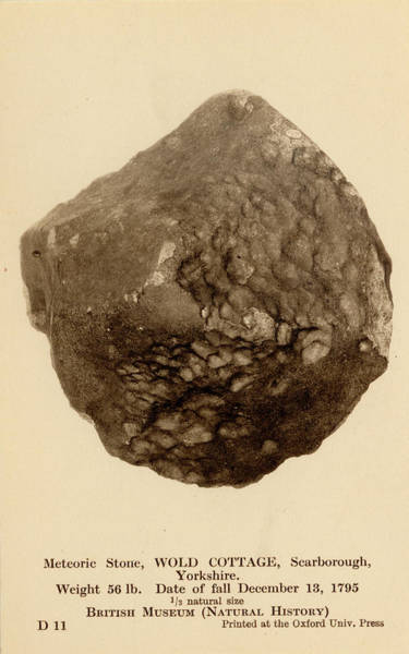 Wall Art - Photograph - British Meteorite by Natural History Museum, London/science Photo Library
