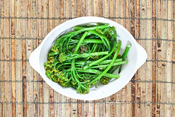 Stir Photograph - Broccoli Stems by Tom Gowanlock