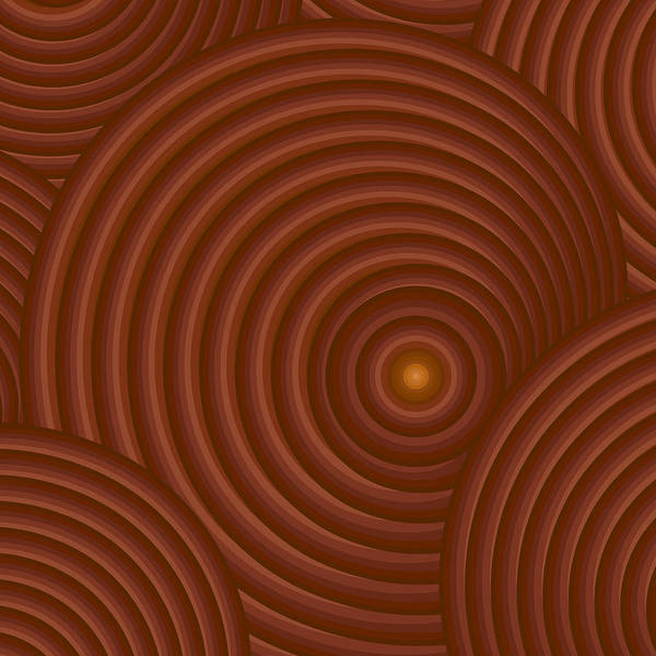 Wall Art - Painting - Brown Abstract by Frank Tschakert
