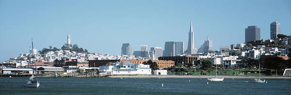 Coit Tower Photograph - Buildings At The Waterfront, San by Panoramic Images