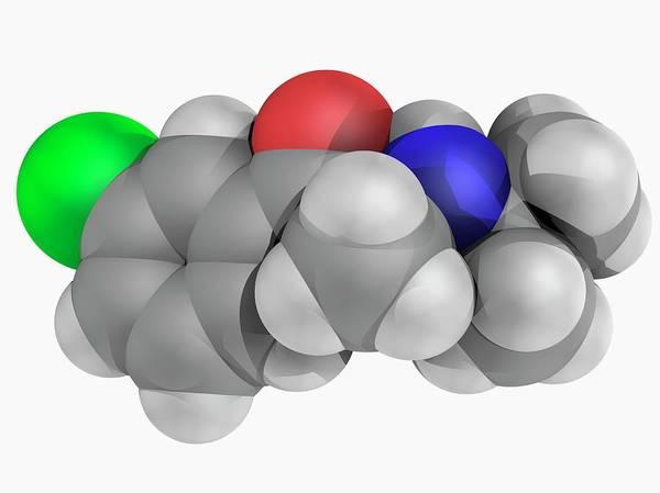 Wall Art - Photograph - Bupropion Drug Molecule by Laguna Design/science Photo Library