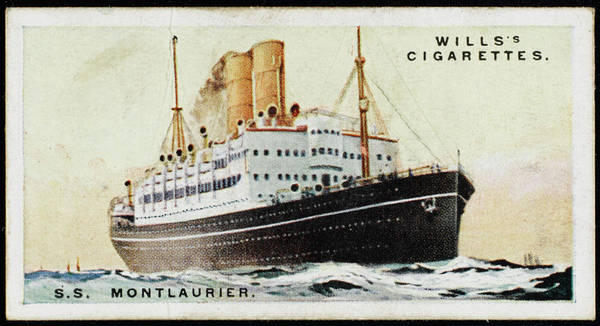 Wall Art - Drawing - Canadian Pacific Liner,  Sailing by Mary Evans Picture Library