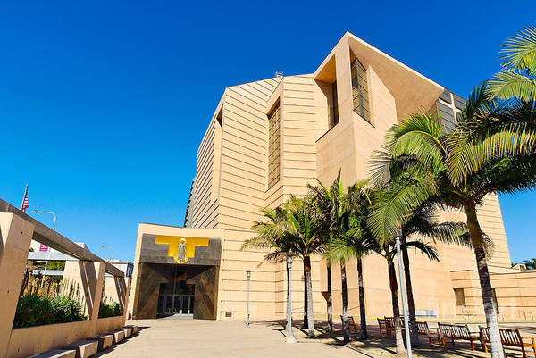 Alabaster Photograph - Cathedral Of Our Lady Of The Angels In Los Angeles. by Jamie Pham