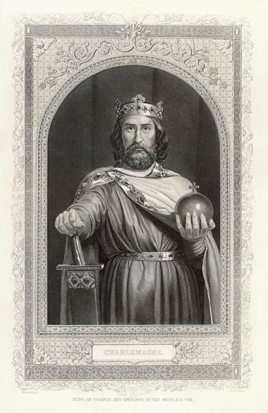 Wall Art - Drawing - Charlemagne (carolus Magnus by Mary Evans Picture Library