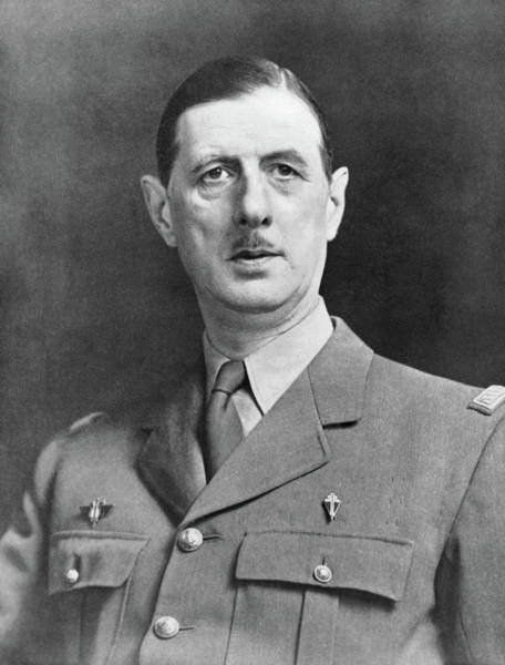 Wall Art - Photograph - Charles De Gaulle (1890-1970) by Granger