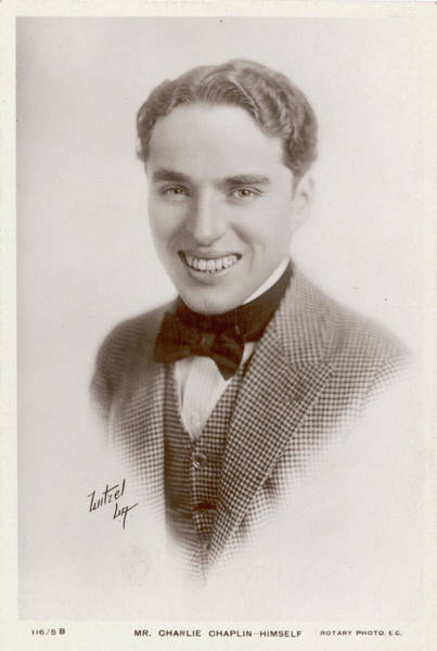 Wall Art - Photograph - Charlie Chaplin (sir Charles Spencer) by Mary Evans Picture Library