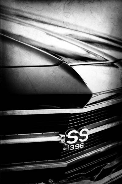 Photograph - Chevrolet Chevelle Ss 398 Grille Emblem by Jill Reger