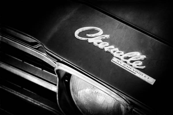 Photograph - Chevrolet Chevelle Ss Hood Emblem by Jill Reger