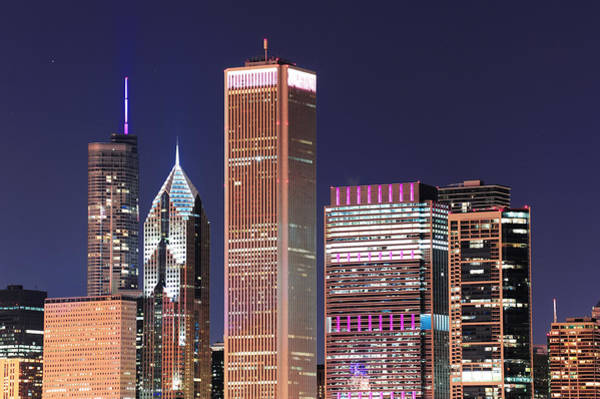 Wall Art - Photograph - Chicago Skyline At Dusk by Songquan Deng