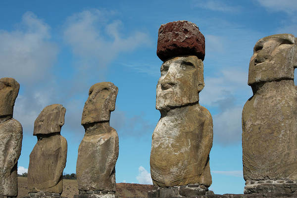 Stone Carving Photograph - Chile, Easter Island, Hanga Nui by Cindy Miller Hopkins