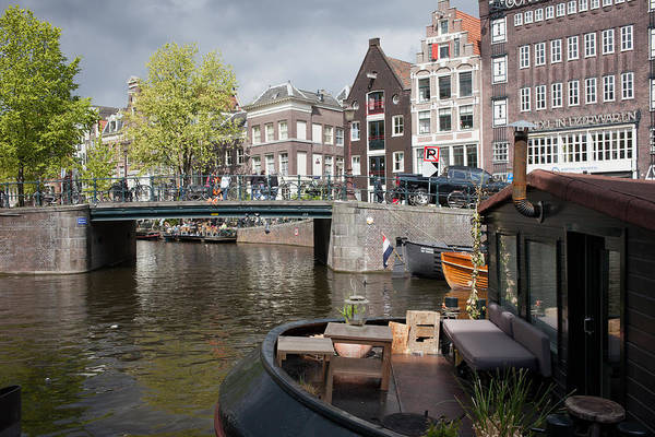 Prinsengracht Photograph - City Of Amsterdam Cityscape by Artur Bogacki