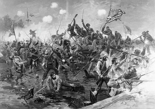 Wall Art - Painting - Civil War Spotsylvania by Granger