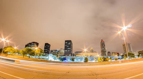 Photograph - Cleveland Downtown On Cloudy Day by Alex Grichenko