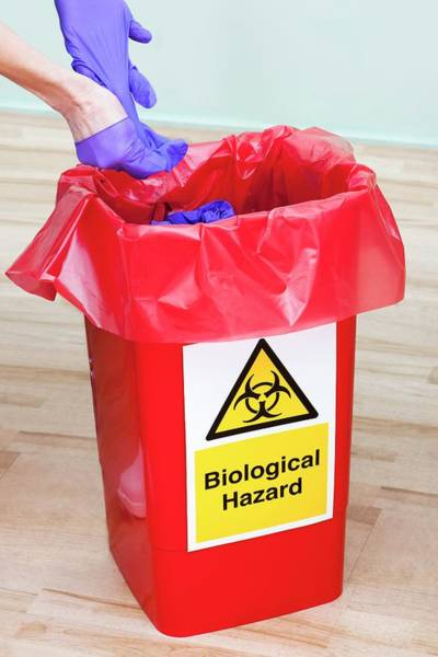 Wall Art - Photograph - Clinical Waste Disposal by Science Photo Library