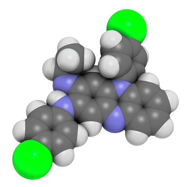 Wall Art - Photograph - Clofazimine Leprosy Drug Molecule by Molekuul