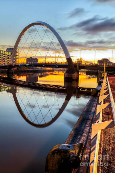 Clyde Photograph - Clyde Arc Squinty Bridge by John Farnan