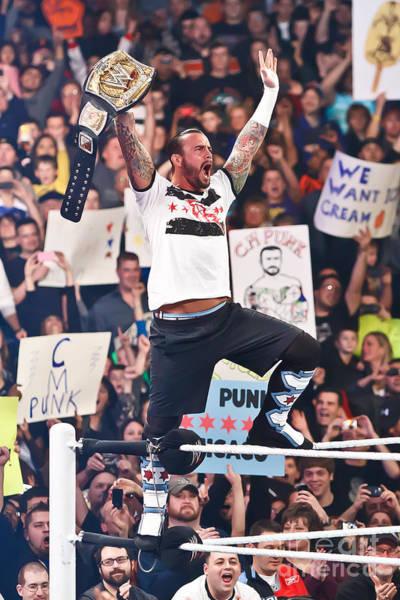 Pro Wrestler Wall Art - Photograph - Cm Punk by Wrestling Photos