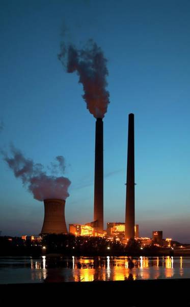 Cooling Tower Photograph - Coal-fired Power Station by Jim West