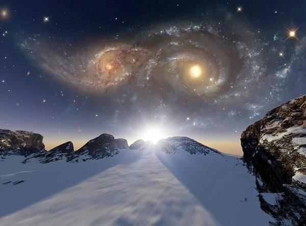 Wall Art - Photograph - Colliding Galaxies by Detlev Van Ravenswaay