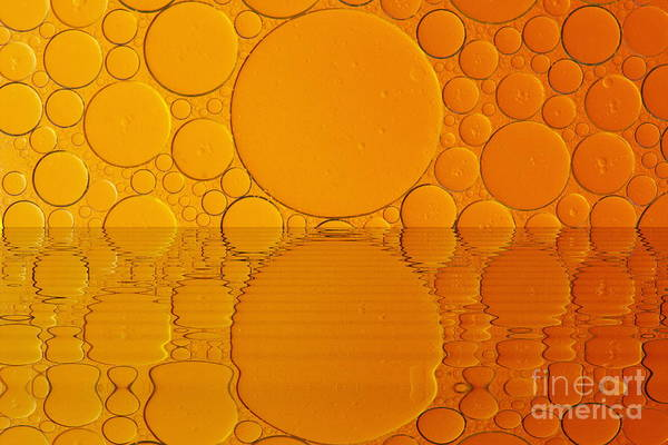 Little Planet Digital Art - Colorful Oil Drops by Odon Czintos